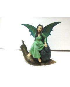 FYP133 Green Fairy Riding Snail by Natasha Faulkner