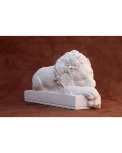 Canova Sleeping Lion Plaster Large Sculpture L32cm