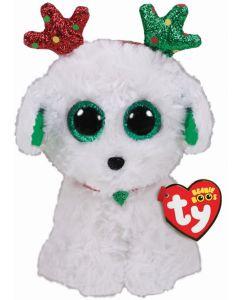 Ty Sugar Dog Christmas Beanie Buddy 18cm 36451