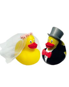 Bride and Groom Mini Ducks by Funky Deco Ducks