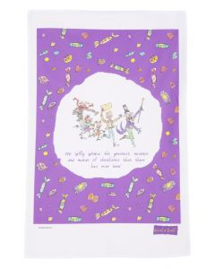 Willy Wonka Tip-Toppling tea towel, Charlie and the Chocolate Factory, Quentin Blake illustration RD102TT
