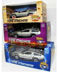 Trio of Back to the Future Delorean 1:24 Scale Diecast Models by Welly