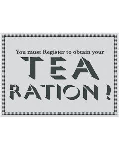 TEA RATION! Food Ministry Ration Book Tea Towel Retro Kitchen TWLTOP05