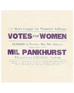 Votes for Women tea towel - Robert Opie Collection TWLTSG01