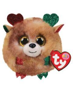 TY Fudge Reindeer Christmas Puffie  42517