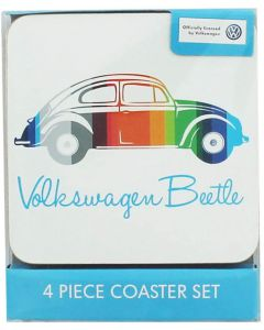 Official Volkswagen Beetle 4 Piece Coaster Set
