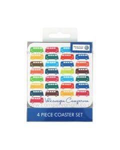 Official VW Campervan 4 Piece Coaster Set Official VW Merchandise