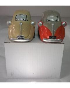 CAR 24 Bubble Car Ceramic Salt and Pepper Shakers