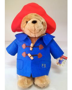 Paddington Bear in Blue Coat Large Classic and Cuddly 40cm Soft Toy by Rainbow Designs PA1101