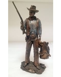 60349 John Wayne Standing with gun and saddle Figure