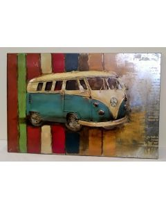 PG1386 Retro Campervan Metal Wall Art