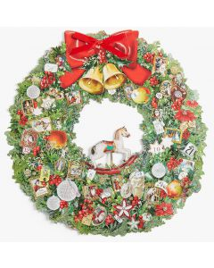 Coppenrath Traditional Advent Calendar Victorian Christmas Wreath 71341